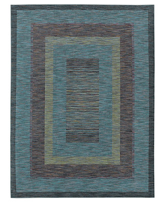 CLOSEOUT Shaw Living Area Rug American Abstracts Collection 21400 Monza Blu