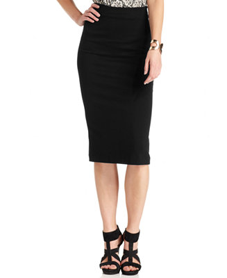 Vince Camuto Ponte Knit Midi Skirt Skirts Women Macy S