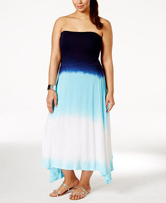 Raviya Plus Size Ombre Convertible Cover Up Dress