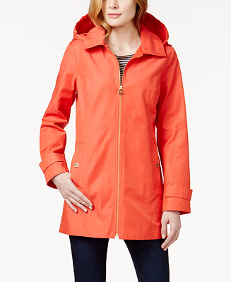 Michael Michael Kors Hooded Raincoat Coats Women Macy S