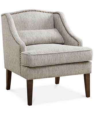 Baylor Swoop Arm Accent Chair Direct Ship Furniture