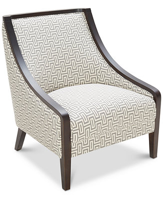 Landor Printed Accent Chair Furniture Macy S