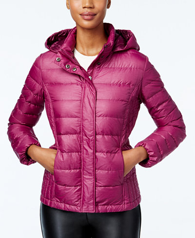 32 Degrees Packable Hooded Puffer Coat Only At Macy S