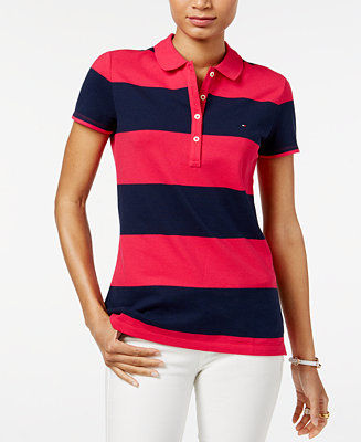 Tommy Hilfiger Rugby Striped Polo Top Tops Women Macy S
