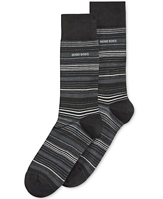 Hugo Boss Men's Multi-Striped Dress Socks