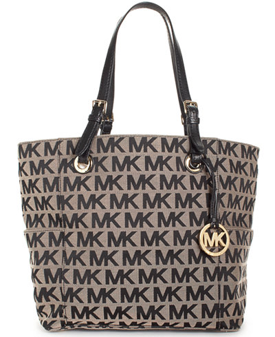 e34ccbeaf17728 MICHAEL Michael Kors Block Monogram Signature Tote - Handbags & Accessories  - Macy'