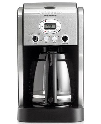 Cuisinart Dcc 2650 Extreme Brew 12 Cup Coffee Maker Coffee Tea Espresso Kitchen Macy 39 S