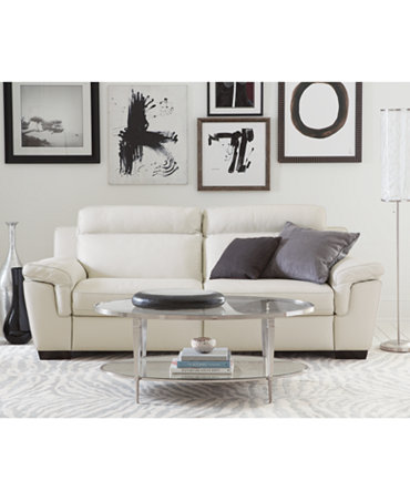 Julius Leather Power Motion Sofa Living Room Furniture Collection Furniture