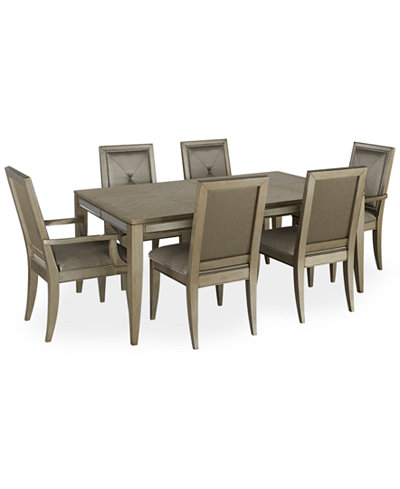 Ailey 7 Piece Dining Room Furniture Set Table 4 Side Chairs And 2 Arm Chair