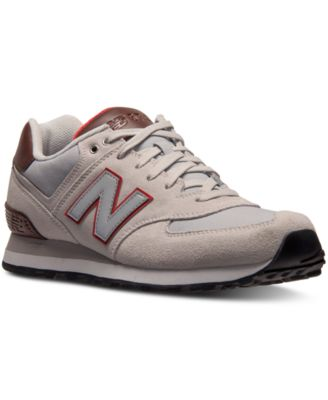 New Balance Mens 574 Beach Cruiser Casual Sneakers Shoes - Grey/White/Brown