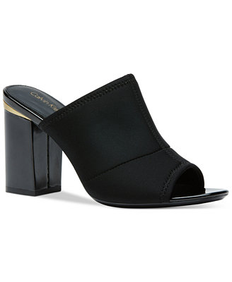 Calvin Klein Womenu0026#39;s Cice Slide-On Mules - Shoes - Macyu0026#39;s