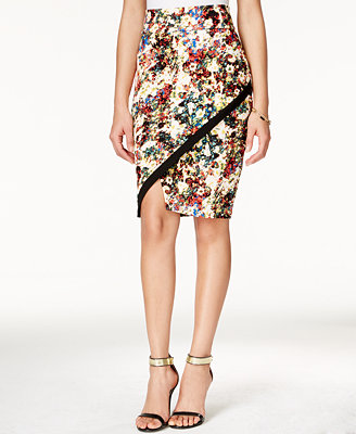 material juniors floral print pencil skirt only at