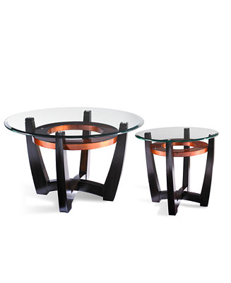 Elation 2 Piece Set Round Coffee Table And End Table Furniture Macy 39 S