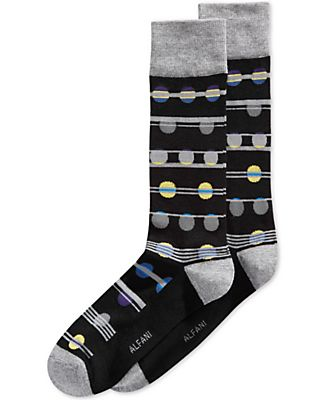 Alfani Men's Dot Stripe Socks, Only at Macy's