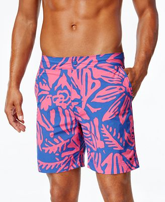 Tommy Hilfiger Men's Cole Brook Tropical-Print Boardshorts - Swimwear - Men - Macy's