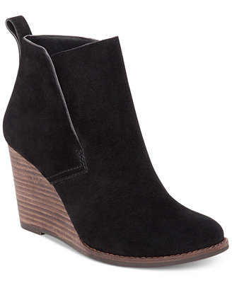 Lucky Brand Women S Yameena Wedge Booties Boots Shoes