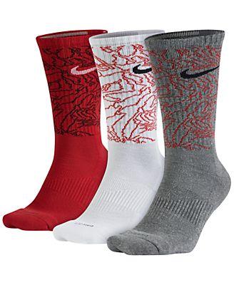 Nike Men's 3-Pk. Dri-FIT Camo Crew Socks