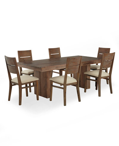 Champagne dining room furniture 7 piece set only at macy for Macys dining room chairs