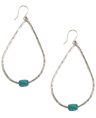 Lucky brand earrings blue stone hoop jewelry watches for Macy s lucky brand jewelry