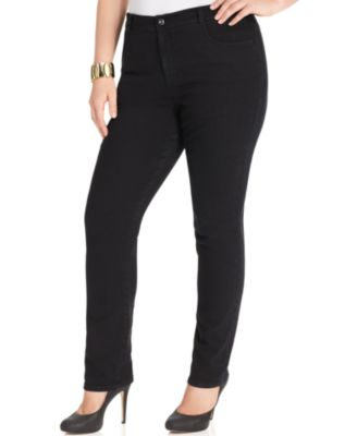 Style & Co. Plus Size Tummy-Control Slim-Leg Jeans, Only at Macy's