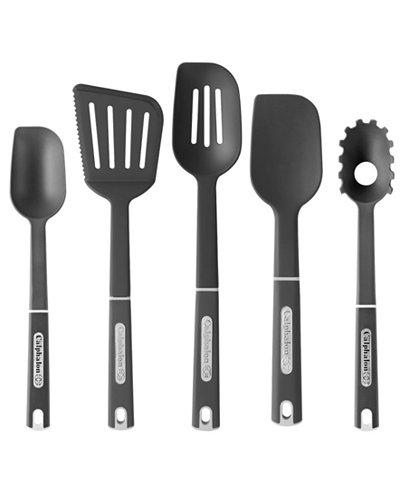 Calphalon 5 piece nylon kitchen utensil set kitchen for Kitchen set utensils