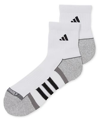 Adidas Men's Climalite II Quarter-Length Socks 2-Pack