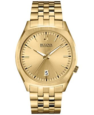 bulova accutron ii s surveyor gold tone stainless
