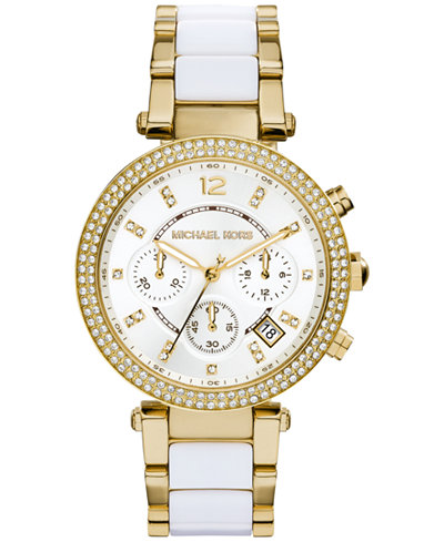 Michael Kors Watches For Women Gold And White