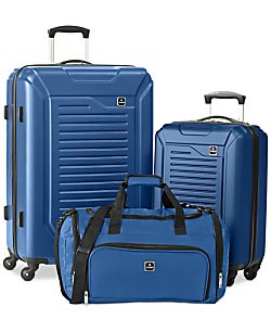 Tag Vector 3-Piece Hardside Luggage Set (Blue)
