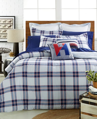 Tommy Hilfiger Surf Plaid Full Queen Comforter Set