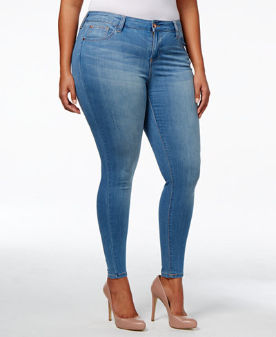 Plus Size Pink Skinny Jeans