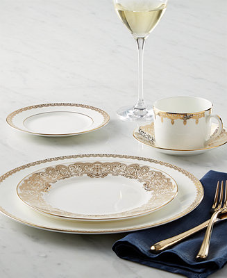 Waterford Dinnerware Lismore Lace Gold Collection Fine