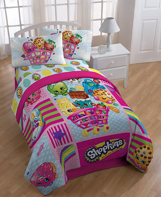 Closeout Shopkins Shopping Cart Full Of Fun Collection Bed In A Bag Bed Bath Macy 39 S