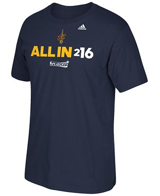 adidas Men's Cleveland Cavaliers All In 216 T-Shirt ...