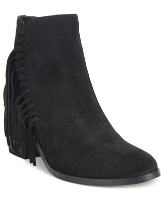 Kenneth Cole Reaction Rotini Fringe Ankle Booties Boots