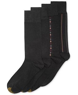 Gold Toe Men's 4-Pk. Patterned Socks