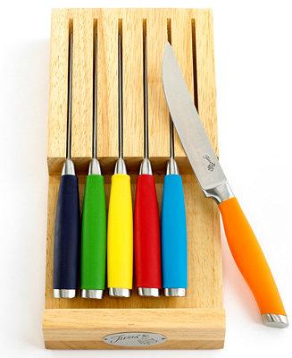 Fiesta Steak Knives 6 Piece Set With In Drawer Block