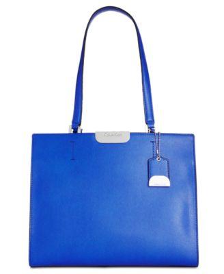Calvin Klein Lola Tote In Royal Blue