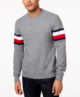 Tommy Hilfiger Men S Everest Logo Sweatshirt In Midway Grey Heather ... 3c6ce48451