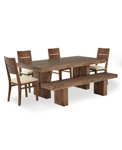champagne dining room furniture 6 piece set dining table