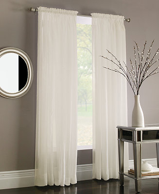 Miller Curtains Sheer Preston Poletop Window Treatment Collection Window Treatments For The
