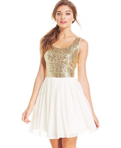 Short Sequin Prom Dress Macys - Formal Dresses