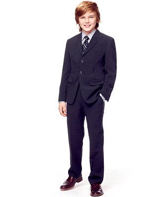 Calvin Klein Boys Dress Shirt Tie Bi Stretch Jacket