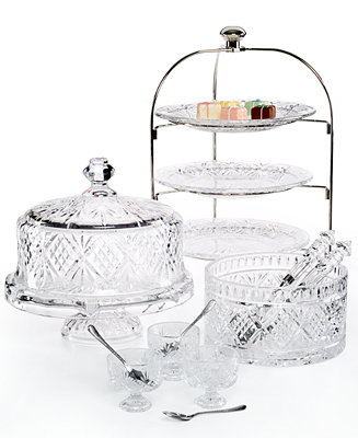 Godinger Serveware Dublin Crystal Serveware Collection