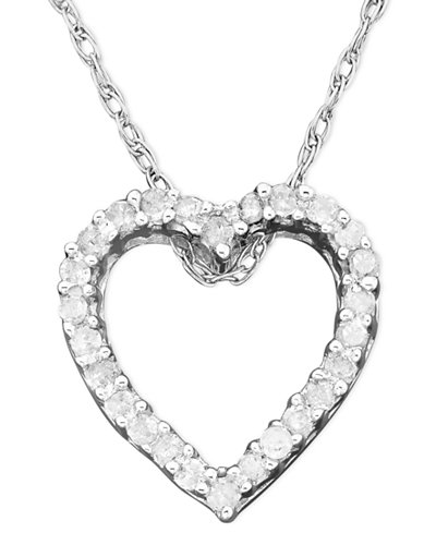 Valentines day white gold heart pendant diamond necklaces page two the way to her heart a diamond necklace with heart pendant give her a sentimental gift gleaming with round cut diamonds 110 ct aloadofball Choice Image