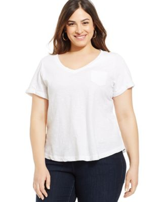 Style&co. Plus Size V-Neck Tee