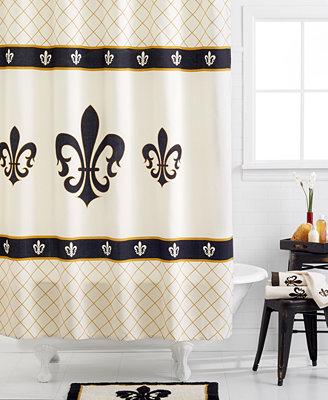 Avanti Fleur De Lis Shower Curtain Bathroom Accessories