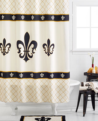 Avanti Fleur De Lis Shower Curtain Bathroom Accessories Bed Bath Macy 39 S