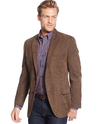 Tasso Elba Classic Fit Microsuede Sport Coat Only At Macy