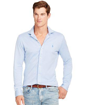 Polo ralph lauren knit estate dress shirt casual button for Polo ralph lauren casual button down shirts